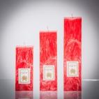 Set sviečok - červená klasik matná, solumar
