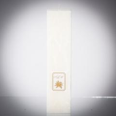 Sviečka biela matná, matna, sviečka pre znamenie býk, sviečka pre znamenie baran, sviečka pre znamenie škorpión, sviečka pre znamenie rak
