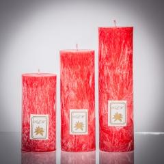 Set sviečok - červená klasik matná, matna, sviečka pre znamenie býk, sviečka pre znamenie baran, sviečka pre znamenie škorpión, sviečka pre znamenie rak