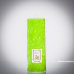 Sviečka zelená brezová matná, matna, sviečka pre znamenie býk, sviečka pre znamenie baran, sviečka pre znamenie škorpión, sviečka pre znamenie rak