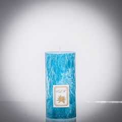 Sviečka tyrkysová matná, matna, sviečka pre znamenie býk, sviečka pre znamenie baran, sviečka pre znamenie škorpión, sviečka pre znamenie rak