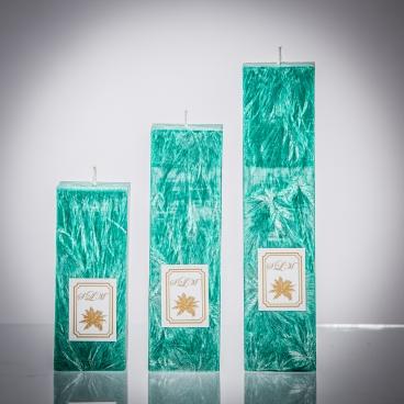 Set sviečok - zelená smaragd matná, solumar