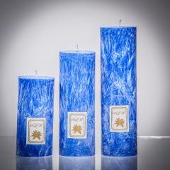 Set sviečok - modrá matná, matna, sviečka pre znamenie býk, sviečka pre znamenie baran, sviečka pre znamenie škorpión, sviečka pre znamenie rak