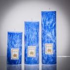 Set sviečok - modrá matná, solumar