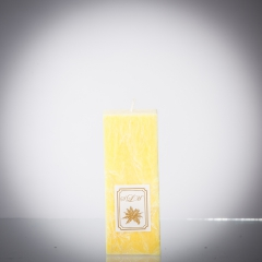 Sviečka žltá matná, matna, sviečka pre znamenie býk, sviečka pre znamenie baran, sviečka pre znamenie škorpión, sviečka pre znamenie rak