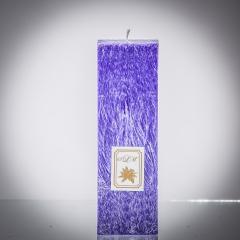 Sviečka fialová matná, matna, sviečka pre znamenie býk, sviečka pre znamenie baran, sviečka pre znamenie škorpión, sviečka pre znamenie rak