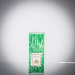 Sviečka zelená matná, matna, sviečka pre znamenie býk, sviečka pre znamenie baran, sviečka pre znamenie škorpión, sviečka pre znamenie rak